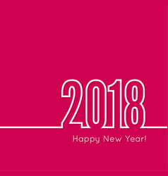 happy new year 2018 theme vector image vector image