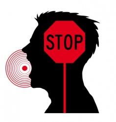 men screaming stop sign vector image vector image