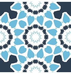 Seamless Print in blue color with stylized vector image vector image