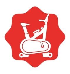 Spinning bike fitness silhouette vector