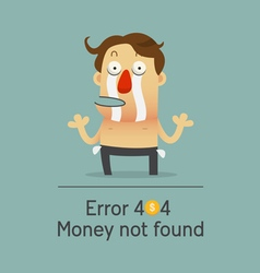 Broken businessman no money showing empty pocket vector image
