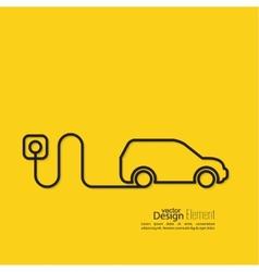 Icon of a hybrid car vector image vector image