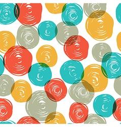 Abstract colorful retro seamless pattern balls doo vector
