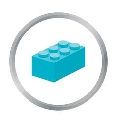 Building block cartoon icon for web vector image vector image