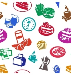 Flat cereal pattern vector