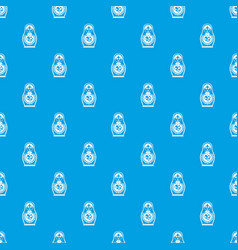 matryoshka pattern seamless blue vector image
