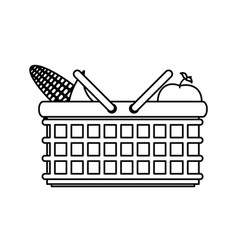 picnic delicious food vector image vector image