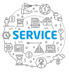 serviceslinear slide for the vector image vector image