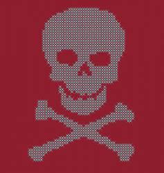 skull bling vector image vector image