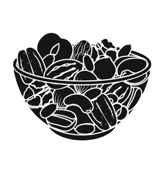 a mixture of different kinds of nuts different vector image