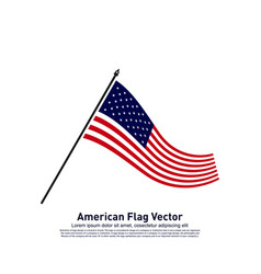 american flag design template icon symbol vector image