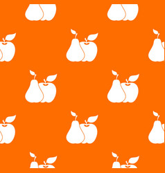 apple and pear pattern seamless vector image