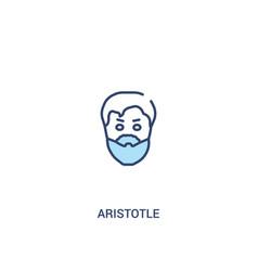 Aristotle concept 2 colored icon simple line vector