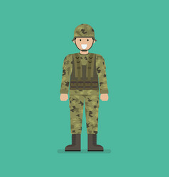 Army soldier character vector