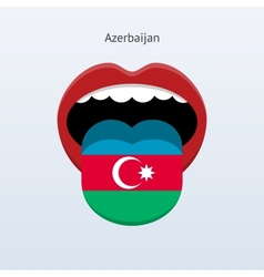 Azerbaijan language Abstract human tongue vector image