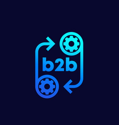 B2b icon with gears vector