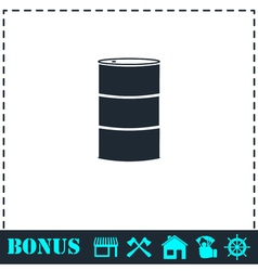 Barrels of oil icon flat vector