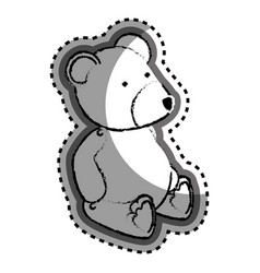 Bear teddy baby toy icon vector