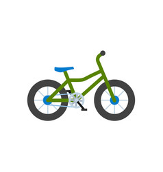 bicycle closeup bike with wheels isolated icon vector image