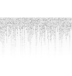 binary code background black and white vector image