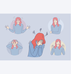 Bipolar disorder phycological problem vector