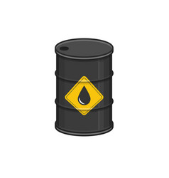 Black metal oil barrel vector