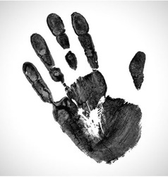 Black print of hand vector