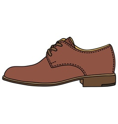 Brown leather shoe vector