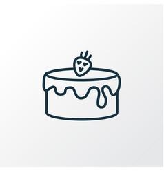 cake icon line symbol premium quality isolated vector image