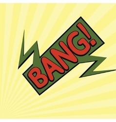 cartoon bang2-12 vector image