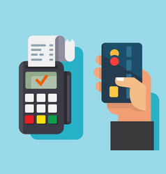 Credit card using conception vector