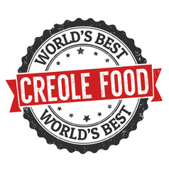 creole food grunge rubber stamp vector image