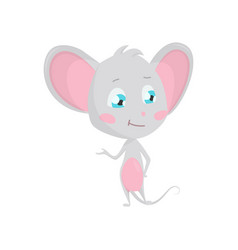 cute grey mouse stock vector image