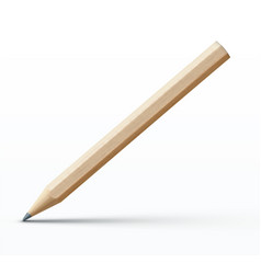 Detailed wooden pencil vector