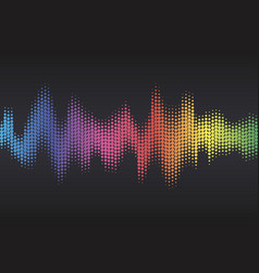 digital sound equalizer with colored rainbow dots vector image