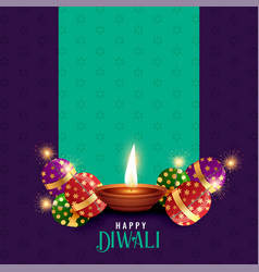 diwali festival season background with text space vector image