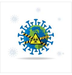 earth quarantine lock down vector image