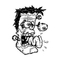 Frankenstein t-shirt design vector