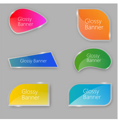 glossy bannerbe used for workflow vector image