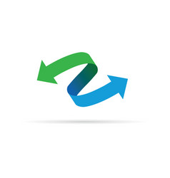 green blue arrow icon vector image