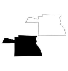 Houston county alabama counties in alabama united vector