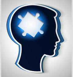 human head concept of a new idea piece vector image