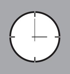 icon with clock symbol vector image