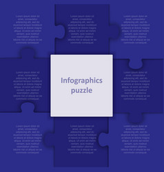 infographic from eight pieces steps puzzle vector image