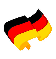 Isolated flag of germany vector