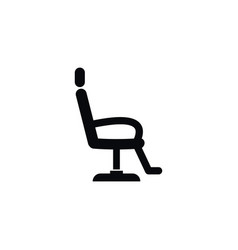 isolated interior icon chair element can vector image