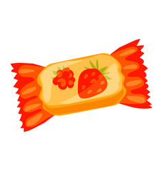 Jelly fruit bonbon icon cartoon style vector