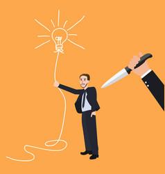 kill idea creative innovation stab back betrayal vector image