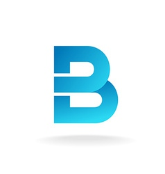 Letter b logo template construction building vector