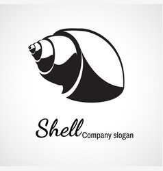 logo of seashell vector image
